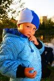 chłopiec myśleć Zdjęcie Royalty Free