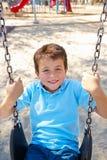 Chłopiec Na huśtawce W parku Obraz Stock