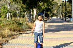 Chłopiec na MonoWheel zdjęcia stock