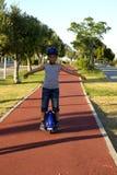 Chłopiec na Monowheel zdjęcie stock