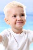 Chłopiec na plaży Zdjęcie Royalty Free