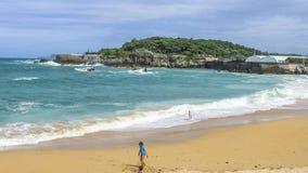 Chłopiec na plaży Obraz Stock