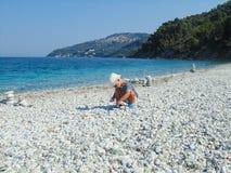 Chłopiec na plaży Fotografia Stock