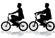 Chłopiec na rowerze Zdjęcia Royalty Free