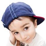 chłopiec nakrętki portreta target1347_0_ obraz royalty free