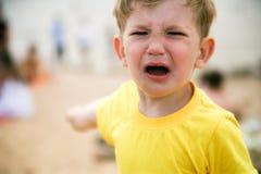 Chłopiec napad złości Obrazy Stock