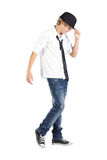 chłopiec nastoletni chłodno obraz royalty free