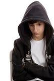 chłopiec nastoletni smutny fotografia royalty free