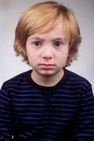 chłopiec nieszczęśliwa Obraz Royalty Free