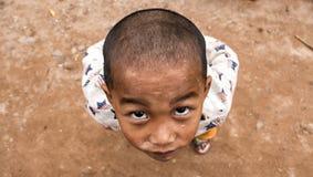 Chłopiec od Akha grupy etnicza w Laos zdjęcia stock