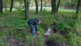 Chłopiec odkrywa naturę zdjęcie wideo