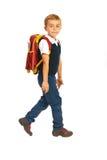 Chłopiec odprowadzenie szkoła fotografia stock