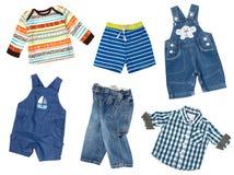 Chłopiec odzieżowy kolaż Męski dzieciaka ` s odzieży set Zdjęcia Stock