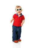 chłopiec okularów przeciwsłoneczne target2367_0_ Obrazy Royalty Free