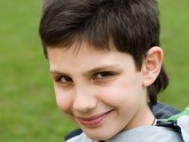 chłopiec ono uśmiecha się Fotografia Royalty Free