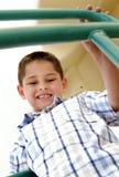 chłopiec outside parkowy bawić się zdjęcia royalty free