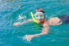 chłopiec pływaczka zdjęcie stock