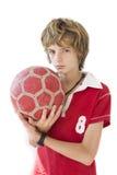chłopiec piłka nożna fotografia stock