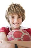 chłopiec piłka nożna zdjęcia stock