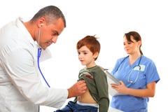 chłopiec pielęgniarka doktorska target149_0_ żeńska męska Obraz Royalty Free