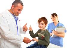 chłopiec pielęgniarka doktorska target2247_0_ żeńska męska Zdjęcie Stock