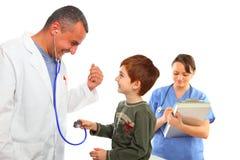 chłopiec pielęgniarka doktorska target340_0_ żeńska męska Zdjęcia Stock