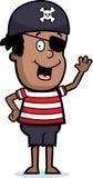 chłopiec pirata falowanie ilustracji