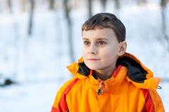 chłopiec plenerowy śliczny mały zdjęcie royalty free