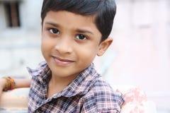 chłopiec portret śliczny indyjski mały Obraz Royalty Free