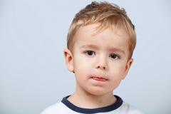 chłopiec portret śliczny mały zdjęcie stock