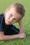 chłopiec portret śródpolny futbolowy Obrazy Royalty Free