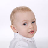Chłopiec portret na białym tle obrazy stock