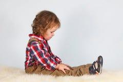 Chłopiec, portret, studio obrazy stock
