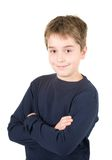 chłopiec portreta uśmiechnięci trwanie potomstwa obrazy stock