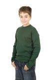 chłopiec portreta uśmiechnięci trwanie potomstwa obraz royalty free