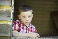 chłopiec poważna Zdjęcie Stock