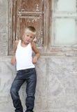 chłopiec poważna Obrazy Stock