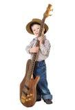 Chłopiec pozycja z rockową gitarą Obraz Royalty Free