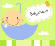 Chłopiec prysznic ilustracji