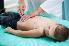 Chłopiec przy lekarką Fotografia Royalty Free