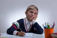Chłopiec przy pulowerem Obraz Stock