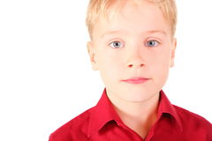 chłopiec przygląda się portreta melancholicznego smucenie Zdjęcia Royalty Free