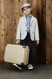 Chłopiec przygotowywająca dla wakacje Obrazy Royalty Free