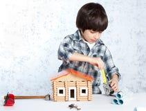 Chłopiec repairman Obrazy Stock