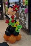 Chłopiec robić z balonów Fotografia Stock