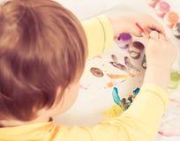 Chłopiec rysunku obrazek Zdjęcie Stock