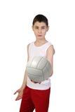 Chłopiec siatkówki gracz obrazy royalty free