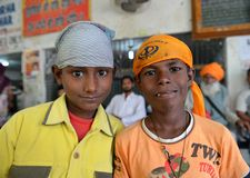 Chłopiec sikhijski Młody Portret obraz royalty free