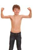 chłopiec silna Obraz Royalty Free