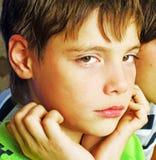 chłopiec smutna zdjęcie stock